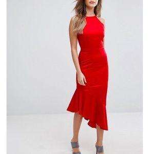 LAVISH ALICE Satin Waterfall Bandeau Dress size 2